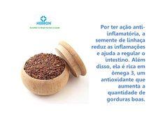 A semente de linhaça reduz as inflamações e ajuda a regular o intestino.