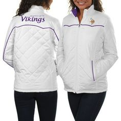 Minnesota Vikings Ladies Spectator Quilted Full Zip Jacket - White