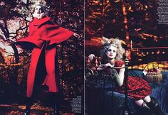 American Vogue - Into the Woods stylist: Grace Coddington