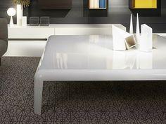 Lacquered square plate coffee table FERRO by Porro design Piero ...