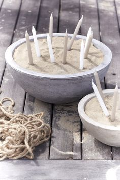 Candles in sand for extra lighting, or short tiki torches!