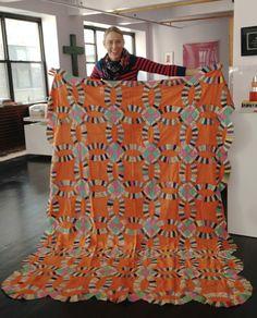 Quilting Tips, Machine Quilting, Quilting Designs, Quilt Design, Sew Kind Of Wonderful, Orange Quilt, Wedding Ring Quilt, Double Wedding, Modern Quilt Patterns
