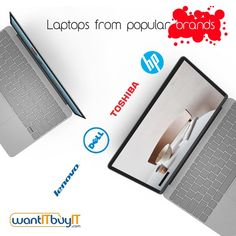 Laptops from popular brands - HP, Toshiba, Dell, Lenovo and more at wantITbuyIT.com