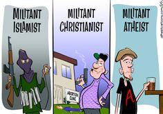 The Myth of Militant Atheism Why are atheists vilified? What is a militant atheist? Atheist Agnostic, Atheist Humor, Religious Humor, Atheist Quotes, Islamic Quotes, Anti Religion, Religion And Politics, Religion Memes, Image Blog