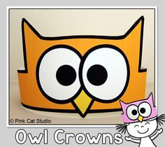 Your students will love these bright and fun owl theme crowns! Use the crowns for the first day of school, to give as rewards for good behavior, to identify teams when playing games or for classroom parties. By Pink Cat Studio