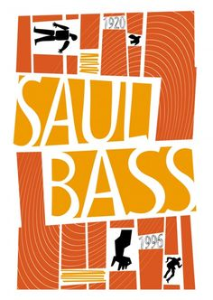Saul Bass  Another example of Bass using abstract shaped and the use of negative space to create a 50s inspired design with loud colours.