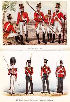 19th Century British Military Uniforms. Lovely illustrations.