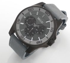 """Miglio Man - """"Our timepieces are stylish and modern, designed to be out of the ordinary in sleek black, robust grey and rich brown. Jenny Miller, Men's Collection, The Ordinary, Timeless Fashion, Men's Style, Mens Fashion, Jewellery, Stylish, Grey"""
