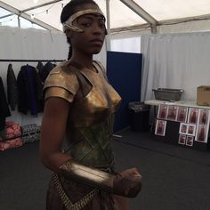 Will never forget the feel! #bts the first time I wore the Amazon Armour feeling % badass!! Dream it, See it, Achieve it @wonderwomanfilm