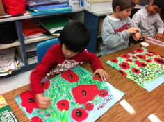 Grade Poppies In Full Bloom During This Unseasonably Warm Winter - Brunswick Acres Art. This is beautiful Remembrance Day Activities, Remembrance Day Art, Painting For Kids, Drawing For Kids, Art For Kids, Spring Projects, Art Projects, Project Ideas, 2nd Grade Art