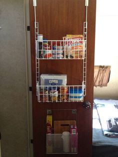 Bathroom pantry? Clever idea. Too bad we currently hang our diaper bag there. Won't have that forever though!!