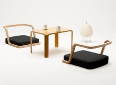 The Japanese-style items of Tendo, Rochea, low table, seat chairs, low seat…