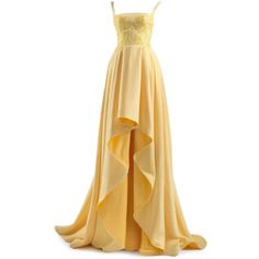 satinee.polyvore.com - Chrystelle Atallah ❤ liked on Polyvore featuring dresses, gowns, long dresses, satinee, ball gowns, beige long dress, beige evening dresses, beige gown and beige dress