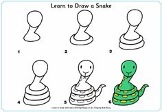 How to Draw a Snake -  Chinese New Year - 2013 is the year of the Snake