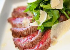 Tagliata with Rucola and Parmiggiano, courtesy of Florentine chef Beatrice Segoni