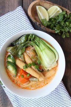 Vegan Thai Coconut Curry Soup