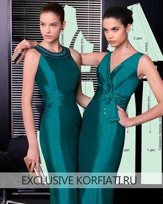 Dress  Сшить это фееричное атласное платье должна каждая женщина. Моделирование несложное, но трудоемкое. А результат того стоит! Ведь выкройка праздничного платья