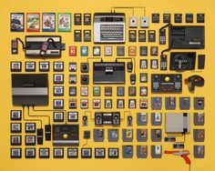 @Things Organized Neatly: Classic Videogame Systems by Jim Golden