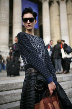 They Are Wearing: Paris Fashion Week | Fall 2012 | via women wear daily