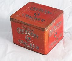 old square cracker tin - Google Search