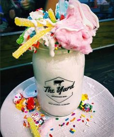 A variety of specialty milkshakes are also available, including The Mermaid...