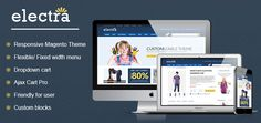 Magik Electra responsive Magento theme is built up with a friendly user frontend as well as super flexible options in the backend. It is also integrated with many outstanding features to become the best product for shop owners... http://cmsmart.net/magento-themes/magik-electra-responsive-magento-theme