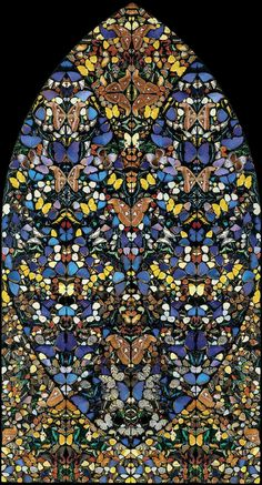 Damien Hirst, Posterity - The Holy Place, 2006. Butterfly wings.