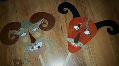 Busó maszkok kartonból by UHUmamu Origami, Techno, Alphabet, Diy And Crafts, Costumes, Crafts, Masks, Creative, Dress Up Clothes