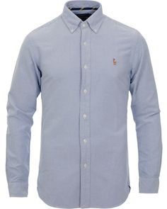 Polo Ralph Lauren Slim Fit Shirt Oxford Blue hos CareOfCarl.com