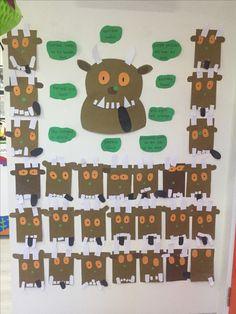Gruffalo bulletin board #gruffalo #gruffaloactivities #preschool #preschoolactivities #craft #activity