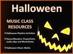 Music Class Resources for Halloween!!!