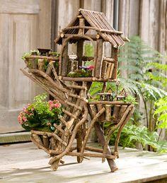 Woodland Fairy Treehouse Planter