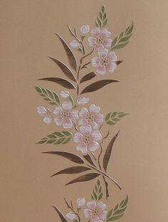 Border Stencils | Cherry Blossom Border Stencil | Royal Design Studio