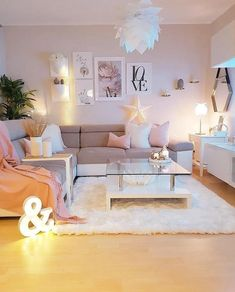 Ideas for Apartment Decorating Living Room Cozy Small Spaces Interior Design - In the event that you are searching for little living room thoughts, take Living Room Design Small Spaces, Living Room Decor Cozy, Living Room Decor Apartment, Girly Apartment Decor, Colourful Living Room, Girly Living Room, Apartment Living Room, Cute Living Room, Apartment Decorating Living