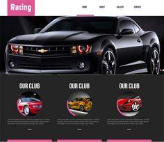 Free website template CSS HTML5 Racing automobile Mobile Website Template