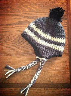 This link is to the pattern I used to create this newborn size baby boy hat.  http://allicrafts.blogspot.com/2011/02/free-pattern-baby-earflap-hat-newborn.html