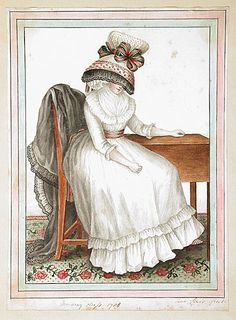 Morning Dress, 1788 by Ann Frankland Lewis aka I have a lamp shade on my head.