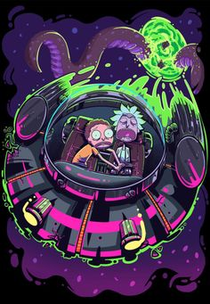 Rick and Morty in Space -   https://www.behance.net/hvl_239970