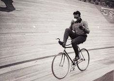 Fausto Coppi Drinking Coffee