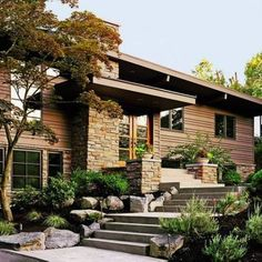 exteior house makeovers | After: Remake the entrance Following an exterior makeover a broad ...
