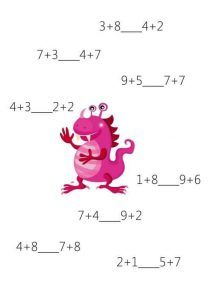 Fun math sheets for kids Second Grade Math, First Grade, Grade 1, Math For Kids, Fun Math, Math 2, Preschool Math, Math Activities, Counting To 20