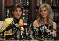 Gloria Allred and transgendered Miss Universe Canada contestant Jenna Talackova meet the press.