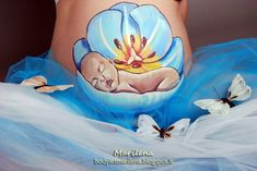 Bump Painting, Painting Art, Pregnant Belly Painting, Belly Art, Belly Casting, Show Me The Way, Baby Belly, Baby Pictures, Tapestry