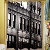 Found it at AllModern - Urban Façade Polyester Shower Curtain