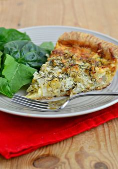 Quiche recipes for fall: apple, fennel and cheddar. With an all-butter crust and velvety smooth eggs, this quiche is truly a meal!