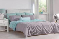 Nádherná modrá oáza, spálňa v modrých tónoch.    #spalna#modra#siva#zavesy´#deka Comforters, Blanket, Furniture, Home Decor, Creature Comforts, Quilts, Decoration Home, Room Decor, Home Furnishings