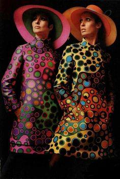 mod print dresses 1960s #modfashion #1960s