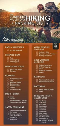 Backpacking Gear List, Trekking Gear, Backpacking For Beginners, Survival Gear List, Backpacking Checklist, Best Camping Gear, Best Hiking Gear, Discount Camping Gear, Camping And Hiking