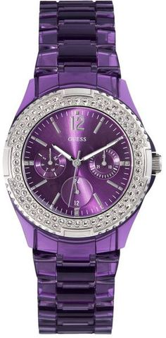 Guess Purple Watch I'm not a watch girl but ong I want this !!!! ooohh i want
