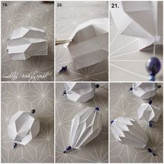 Christmas Origami, Christmas Paper Crafts, Christmas Diy, Xmas, Origami Ball, Diy Origami, Origami Folding, Modular Origami, Origami Paper